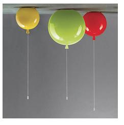 lamp ballonnen geel groen rood